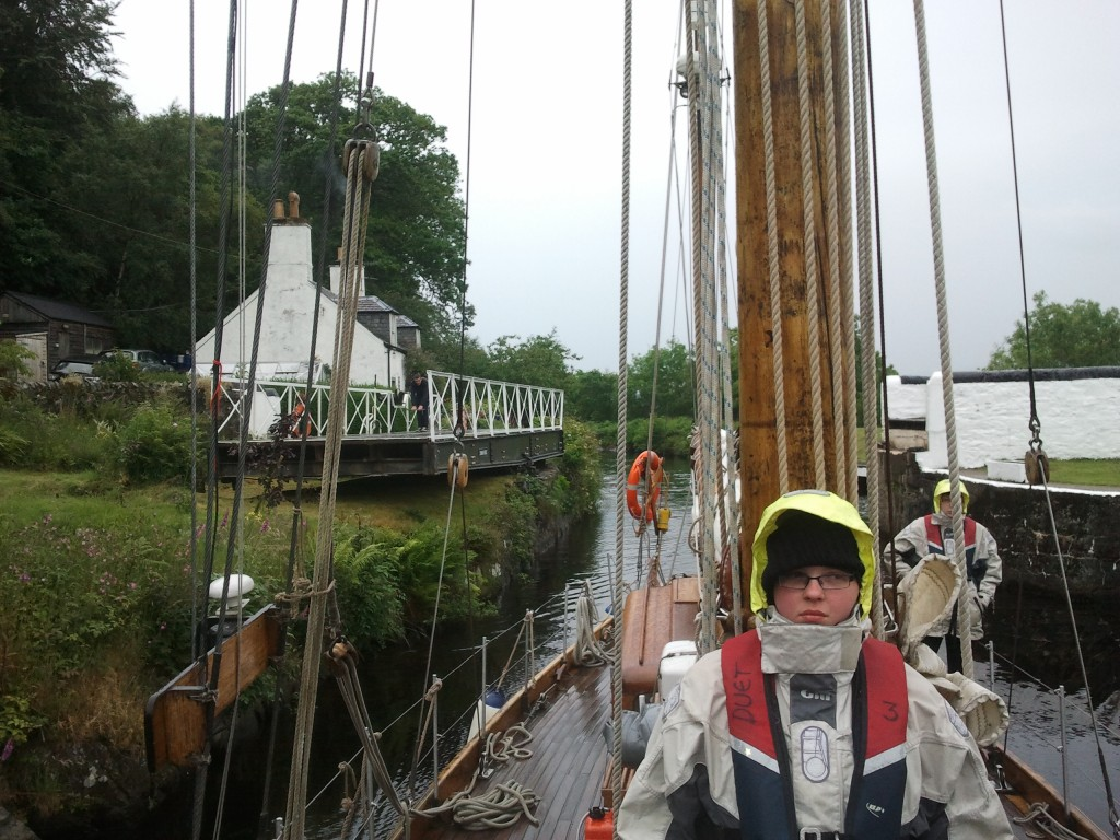 Duet locks through the Crinan Canal
